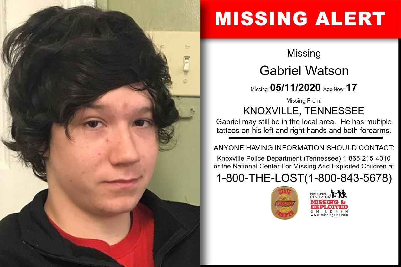 Gabriel_Watson missing in Tennessee