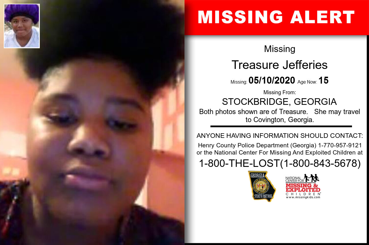 Treasure_Jefferies missing in Georgia
