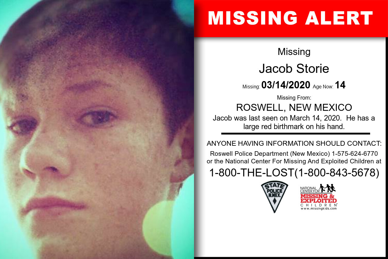 Jacob_Storie missing in New_Mexico