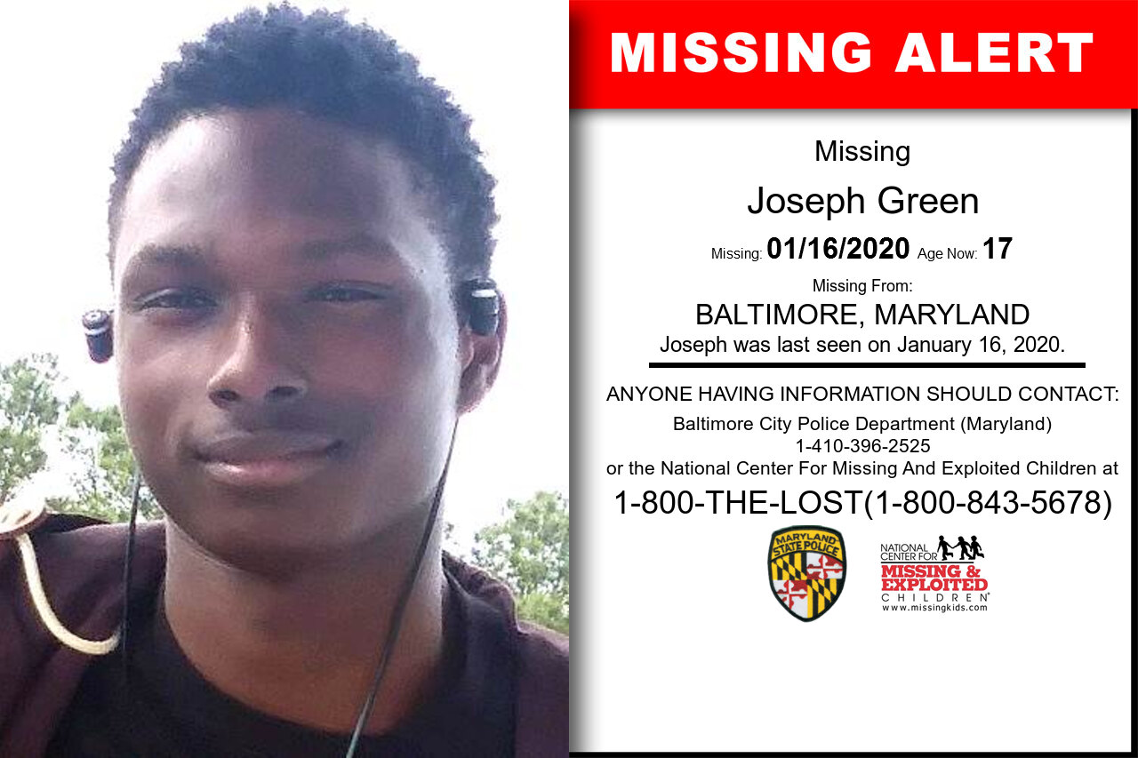 Joseph_Green missing in Maryland