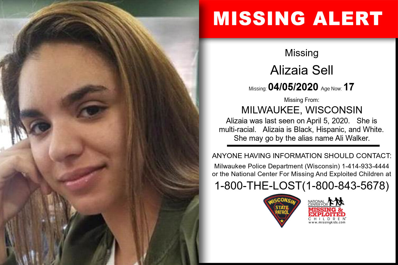 Alizaia_Sell missing in Wisconsin