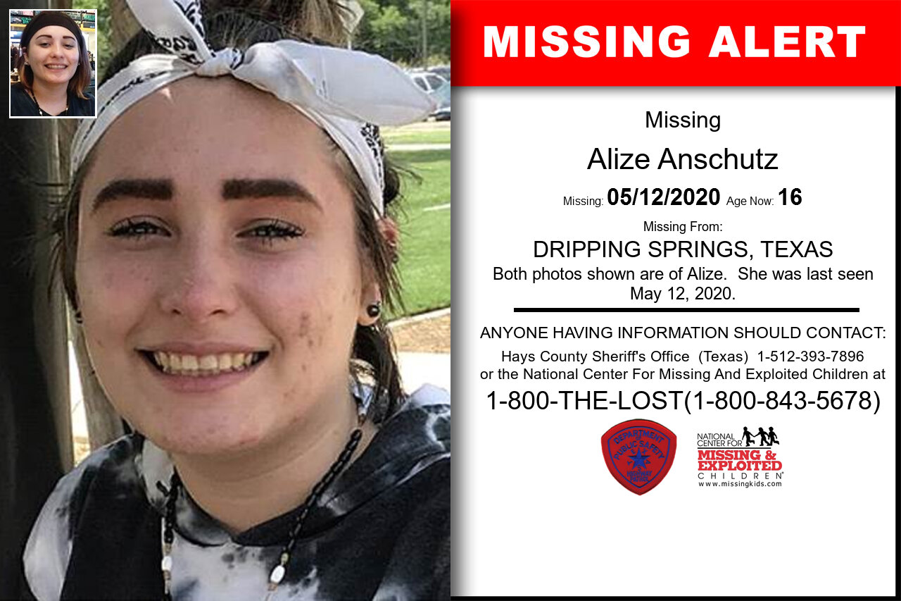 Alize_Anschutz missing in Texas