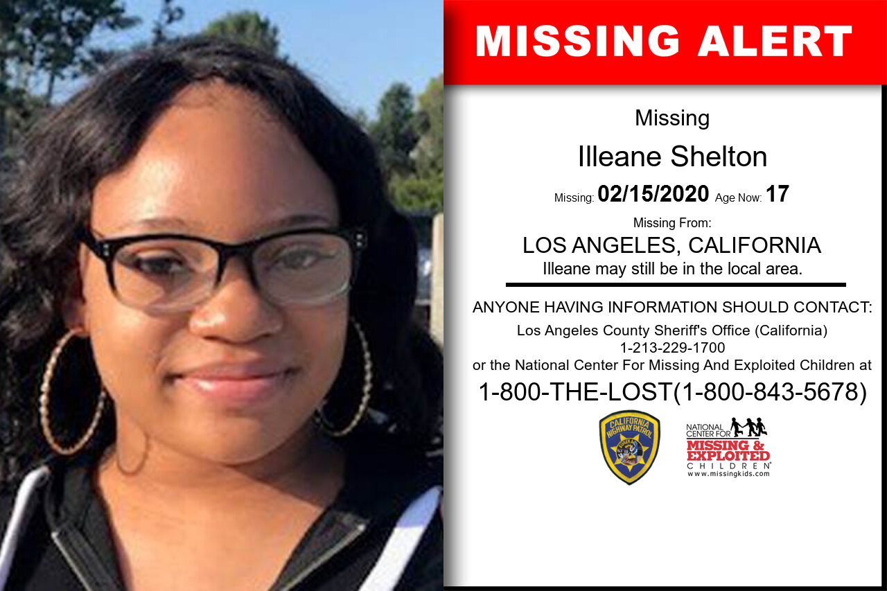 Illeane_Shelton missing in California