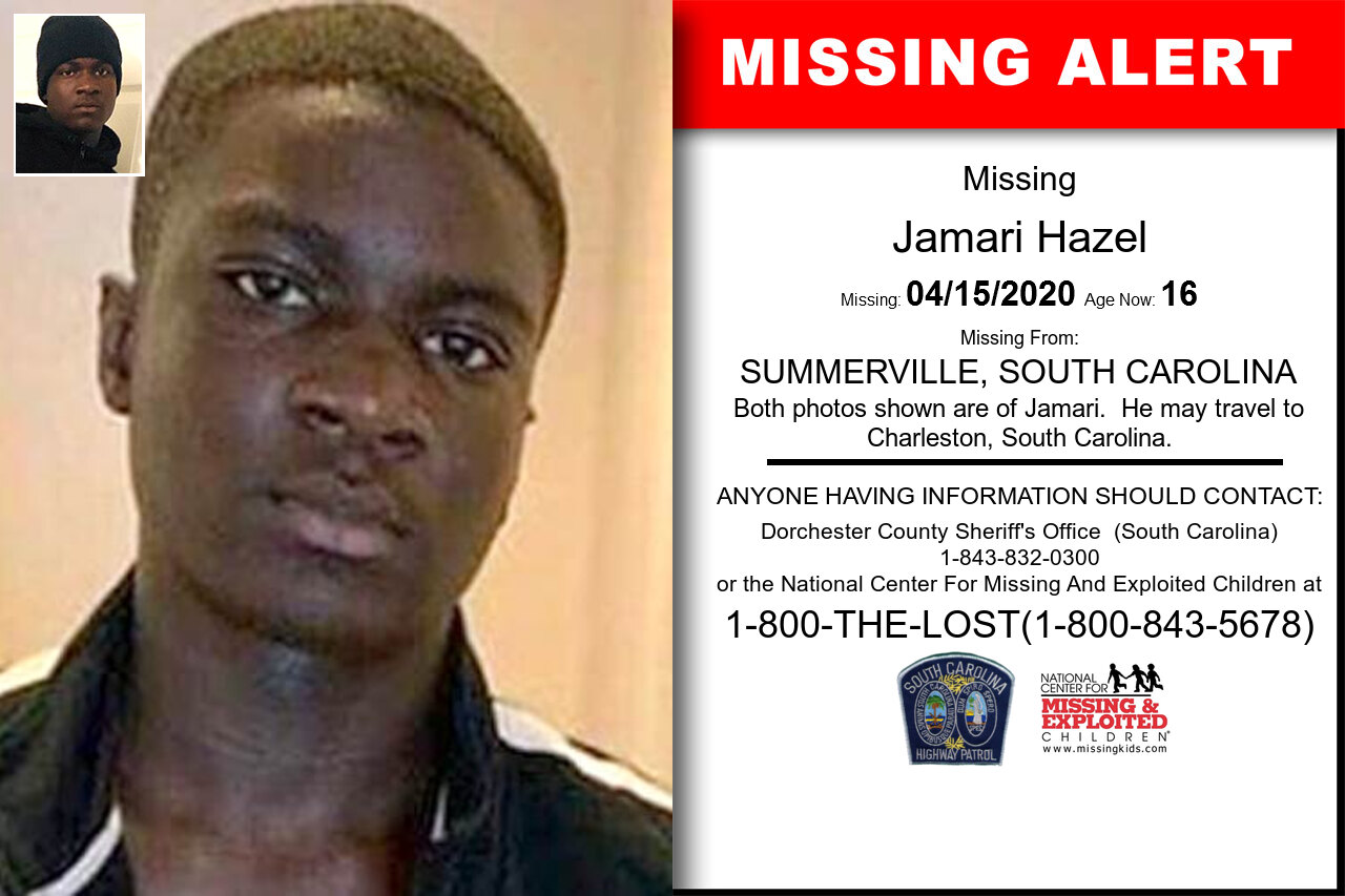 JAMARI_HAZEL missing in South_Carolina