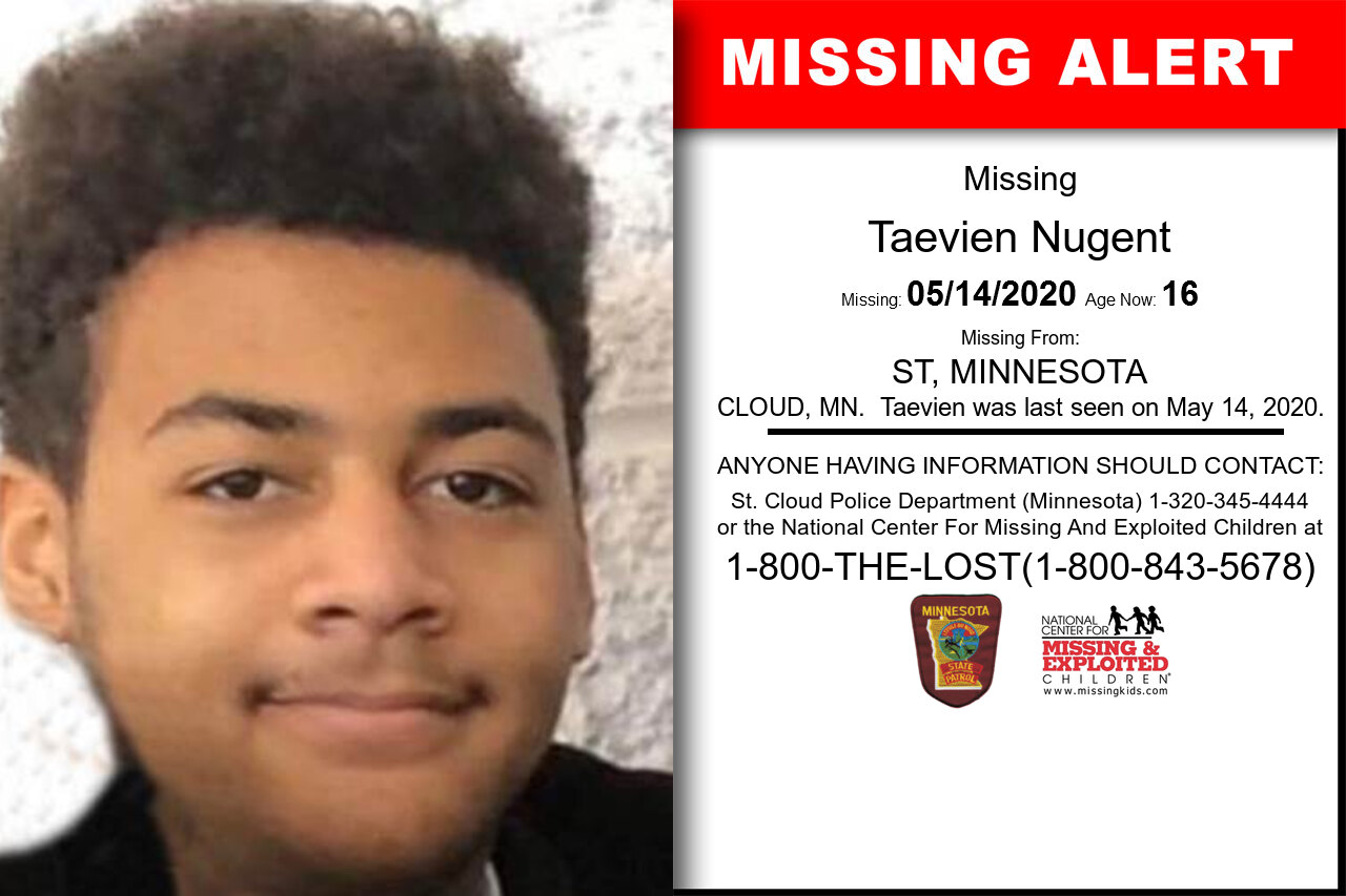 Taevien_Nugent missing in Minnesota