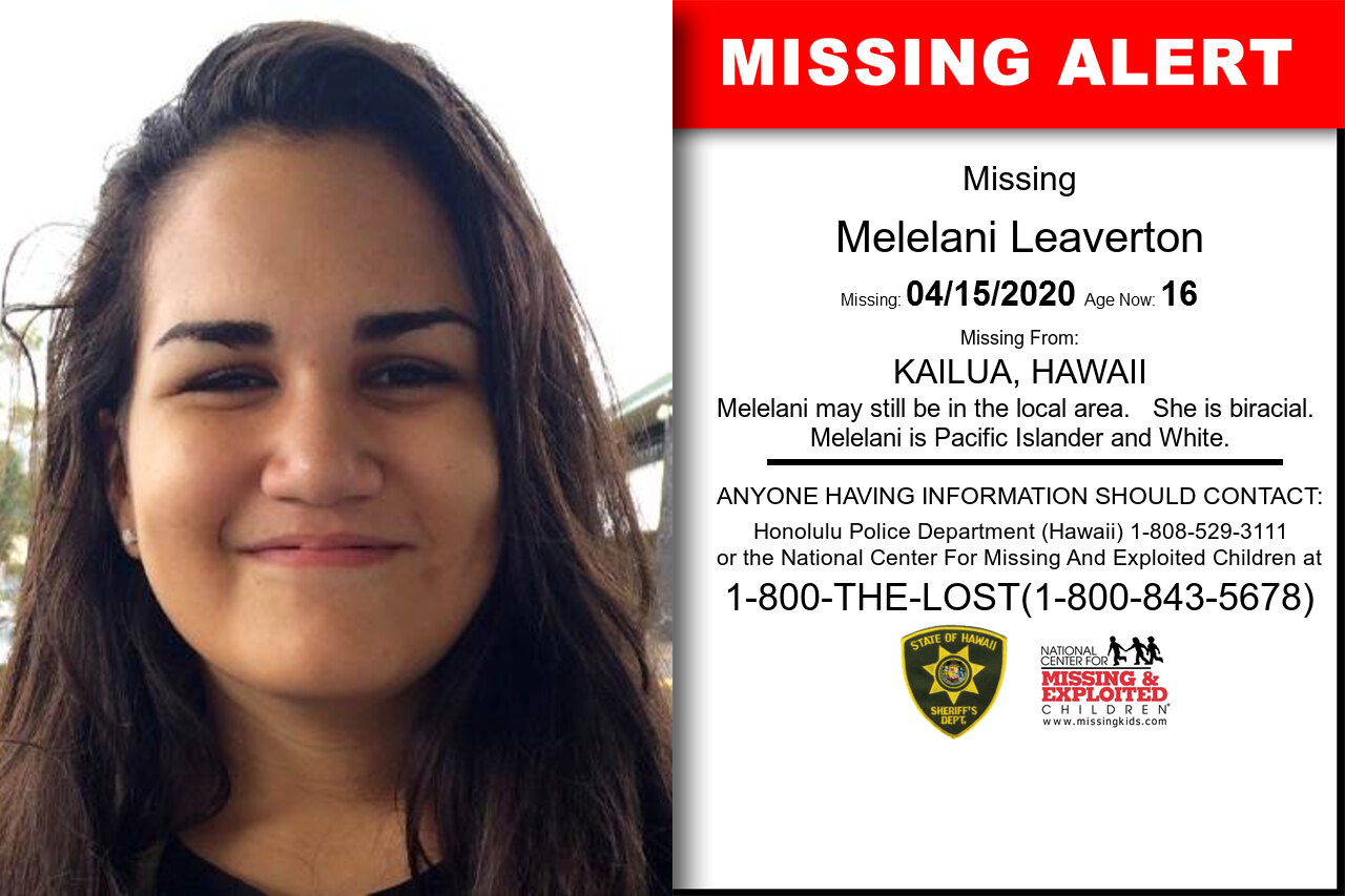 Melelani_Leaverton missing in Hawaii