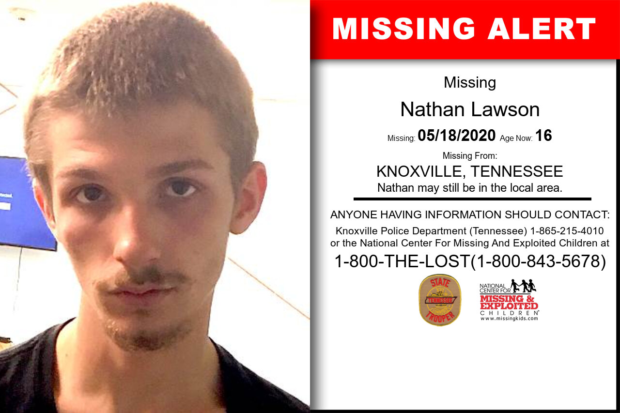 Nathan_Lawson missing in Tennessee