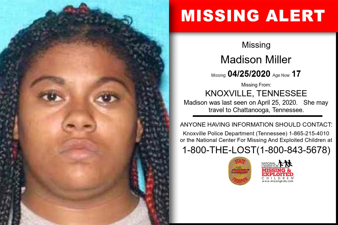 Madison_Miller missing in Tennessee
