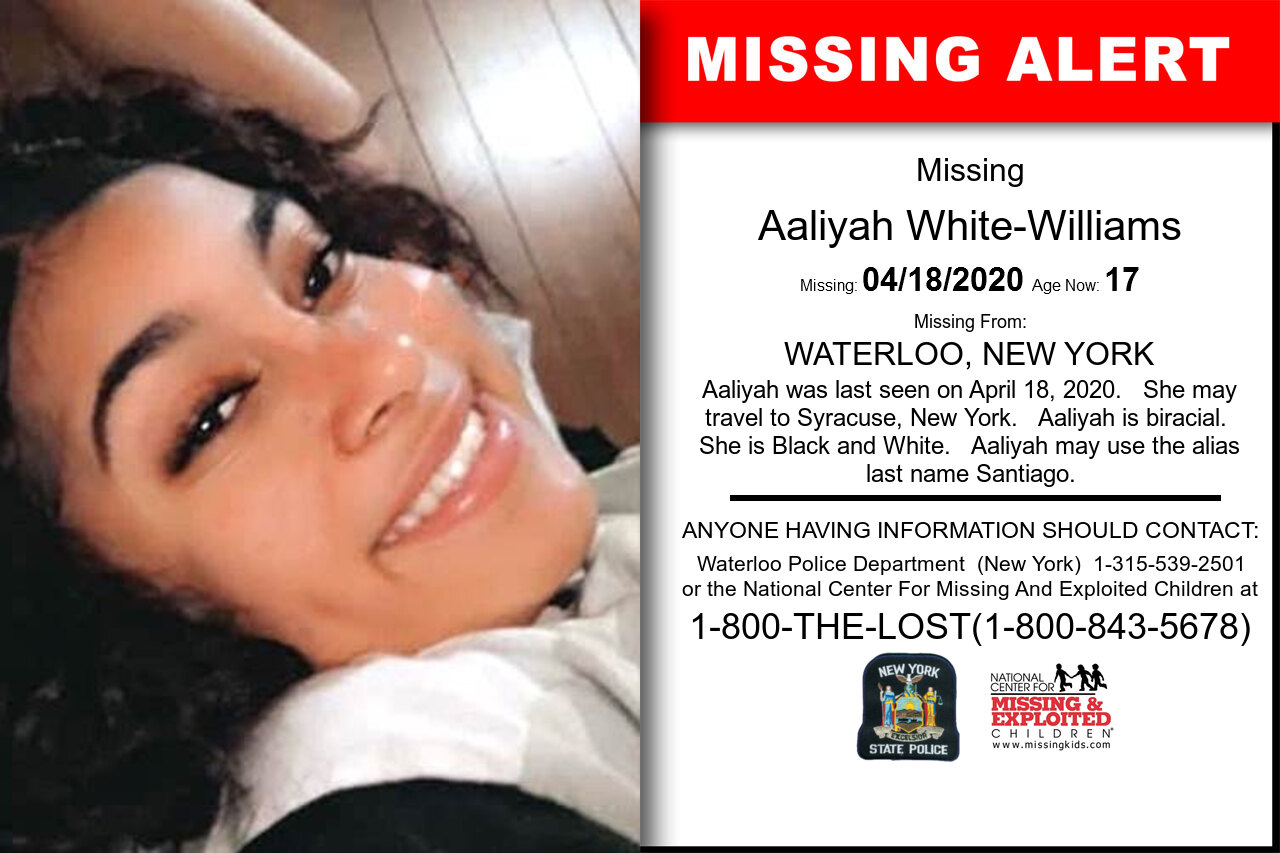Aaliyah_White-Williams missing in New_York