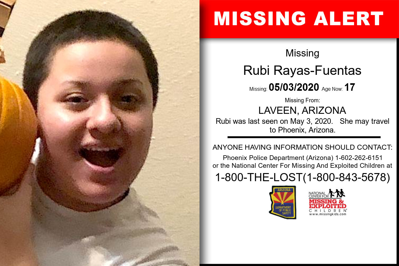 Rubi_Rayas-Fuentas missing in Arizona