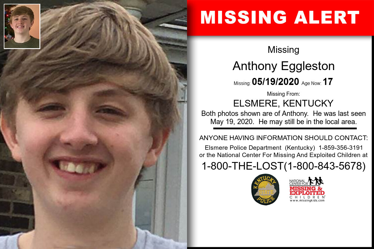 Anthony_Eggleston missing in Kentucky