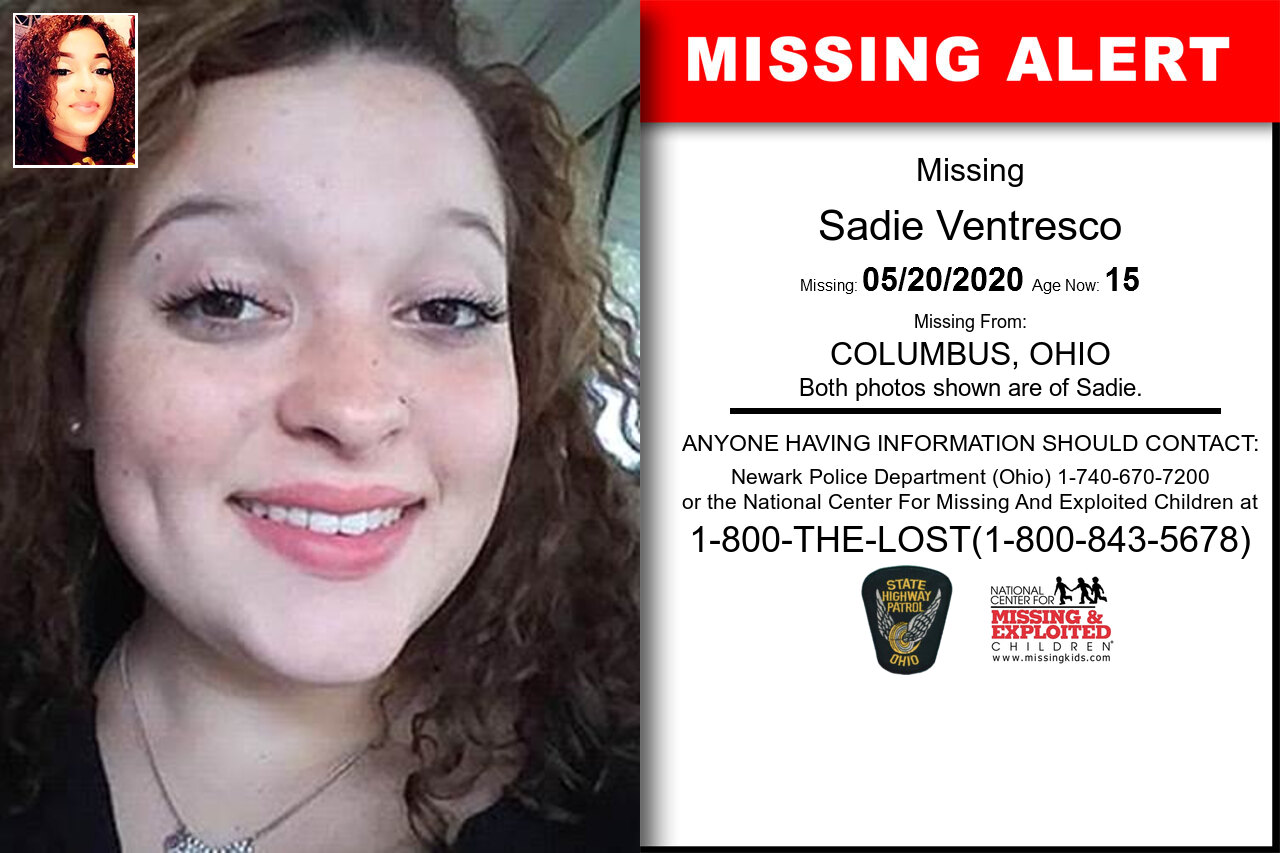 Sadie_Ventresco missing in Ohio