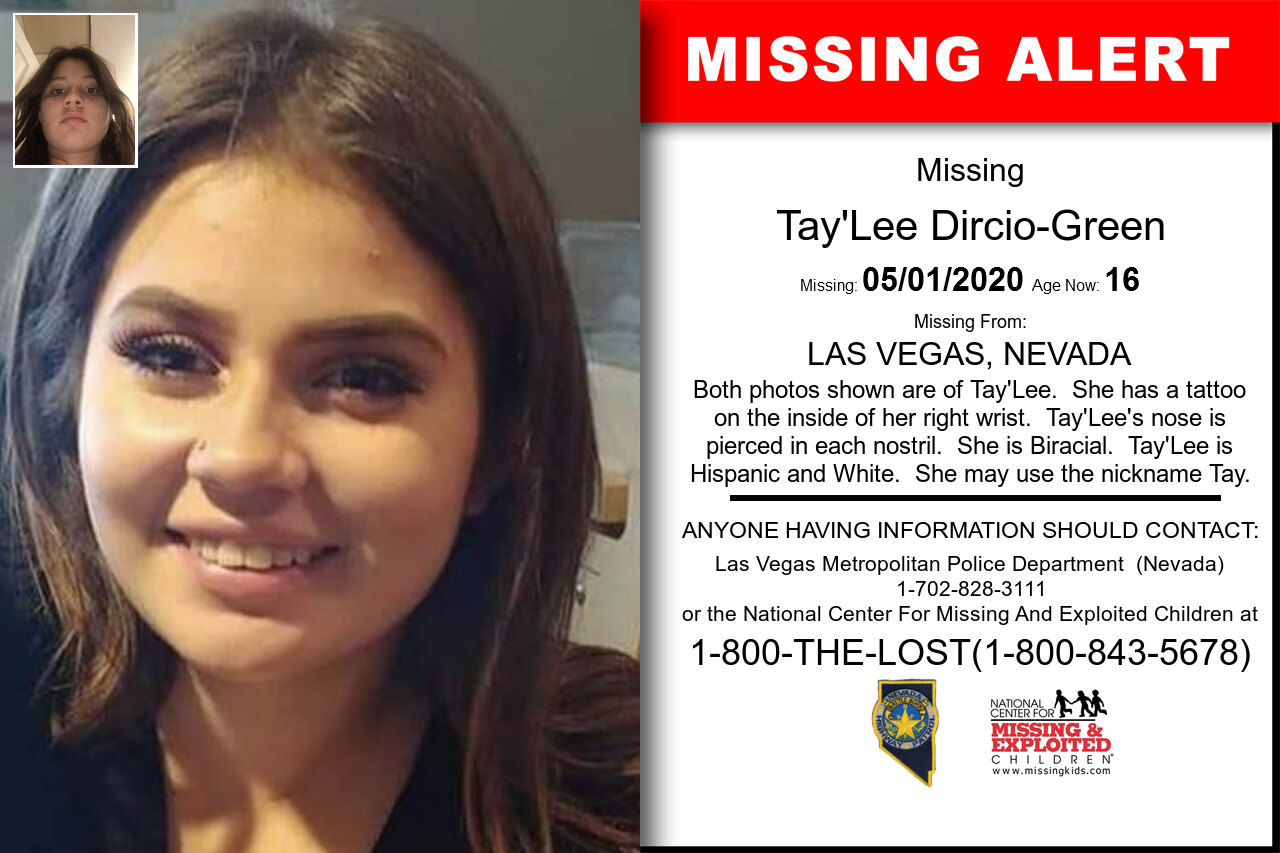 Tay'Lee_Dircio-Green missing in Nevada