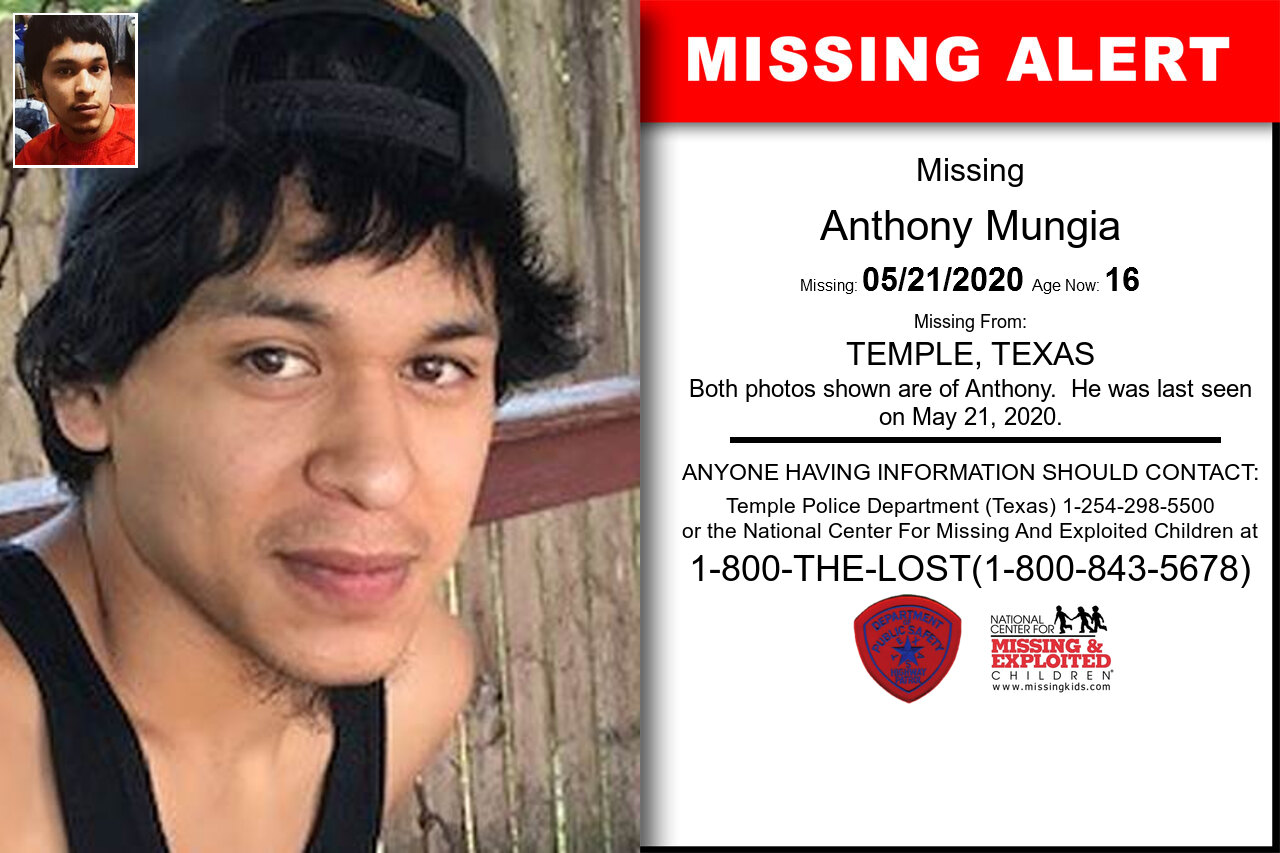 Anthony_Mungia missing in Texas