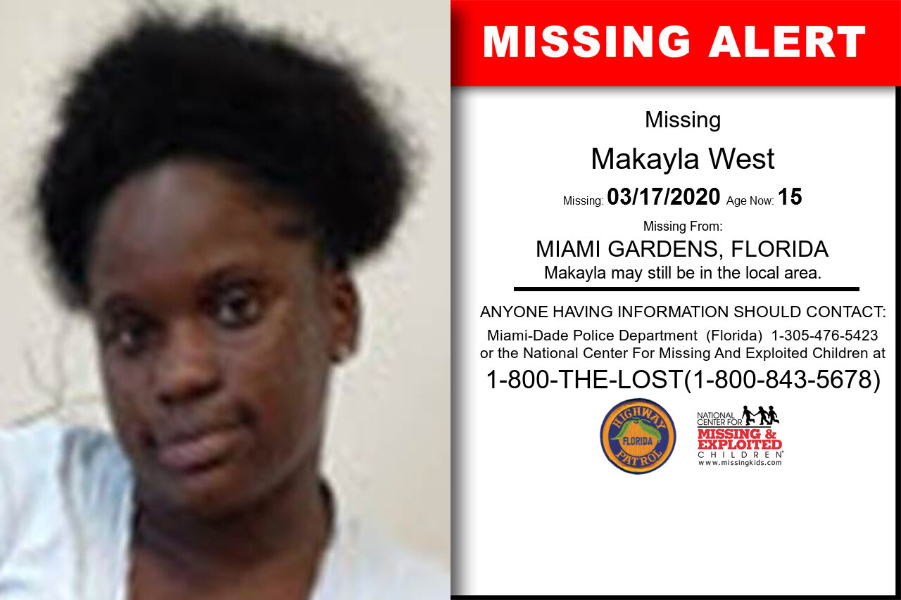 Makayla_West missing in Florida