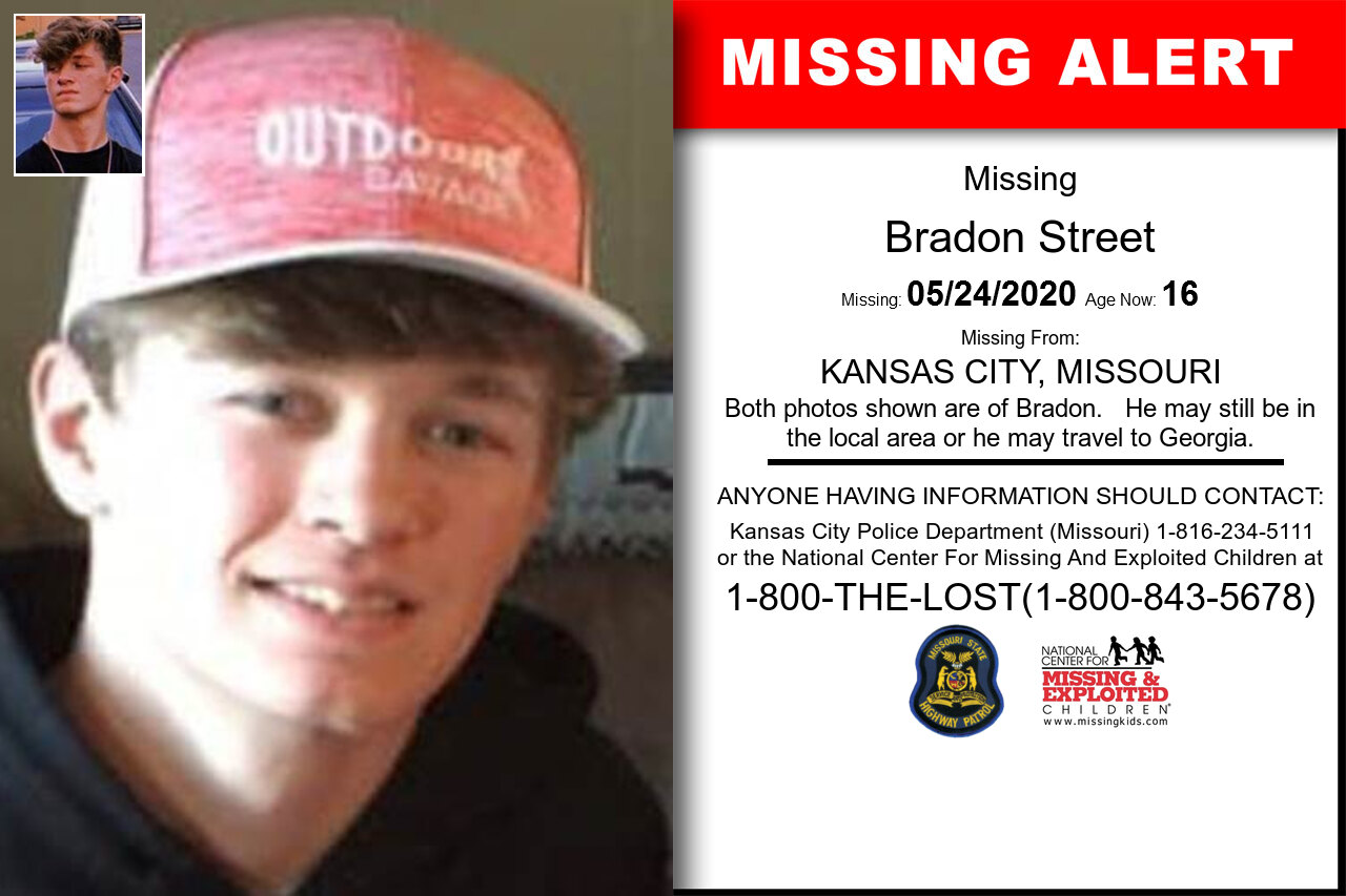 Bradon_Street missing in Missouri