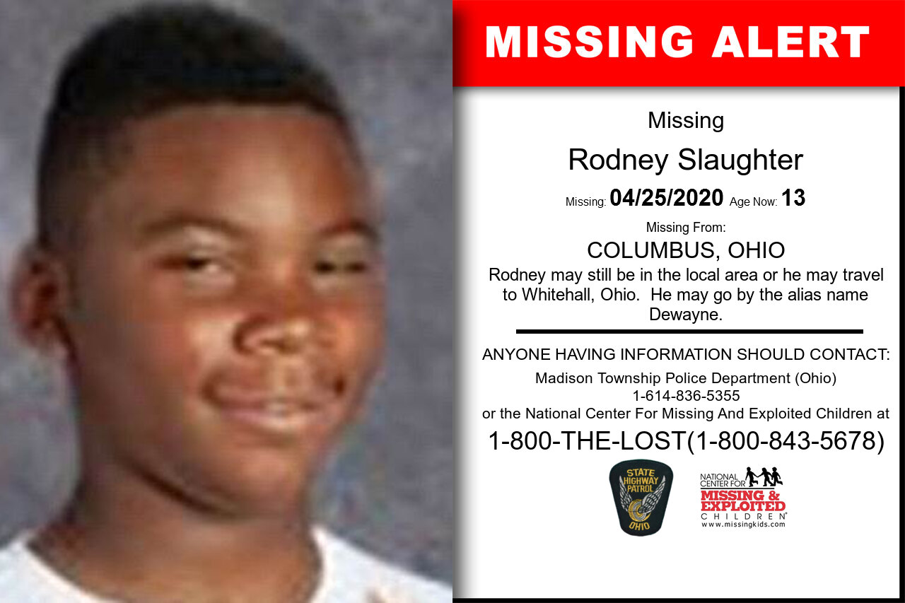 Rodney_Slaughter missing in Ohio