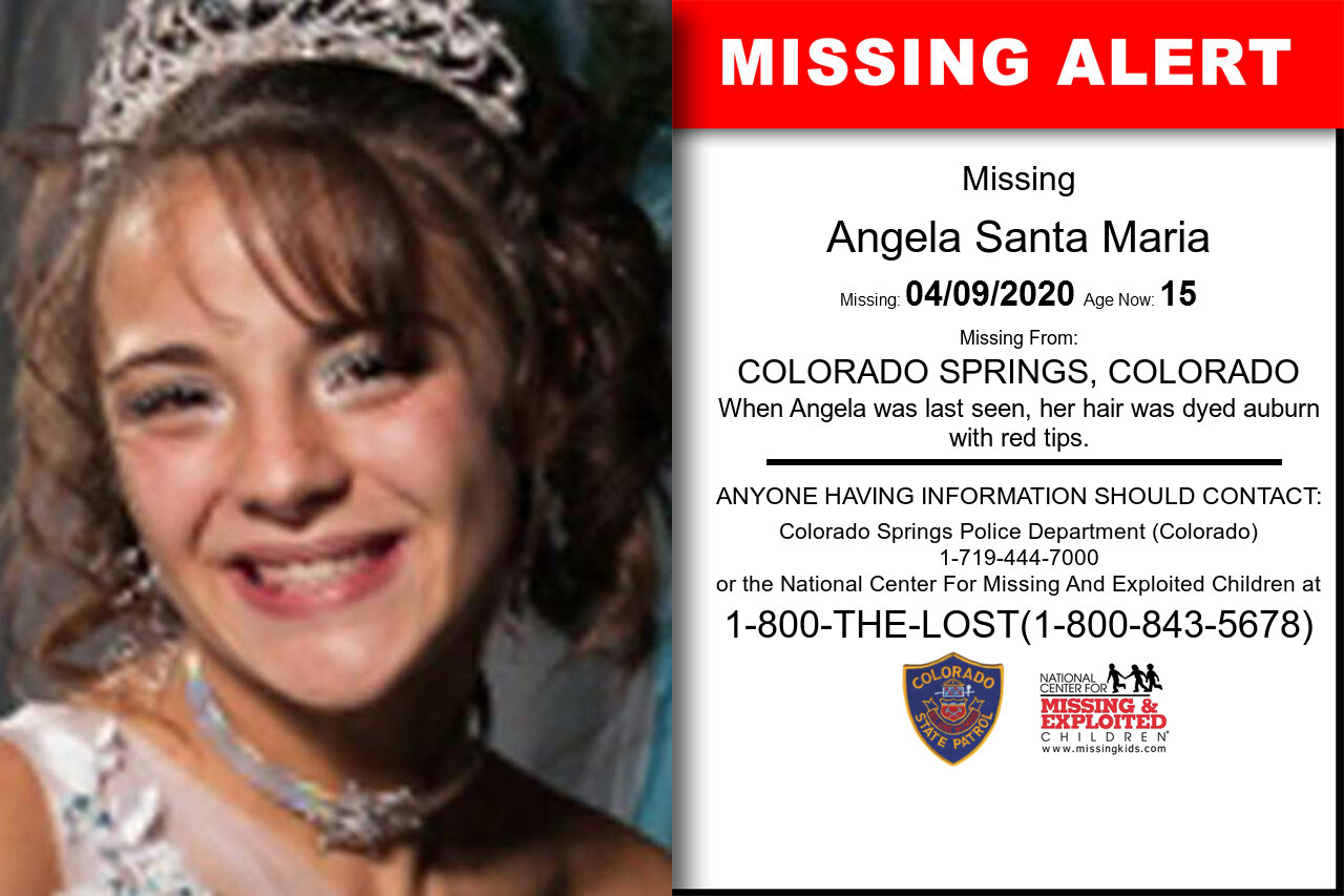 Angela_Santa_Maria missing in Colorado