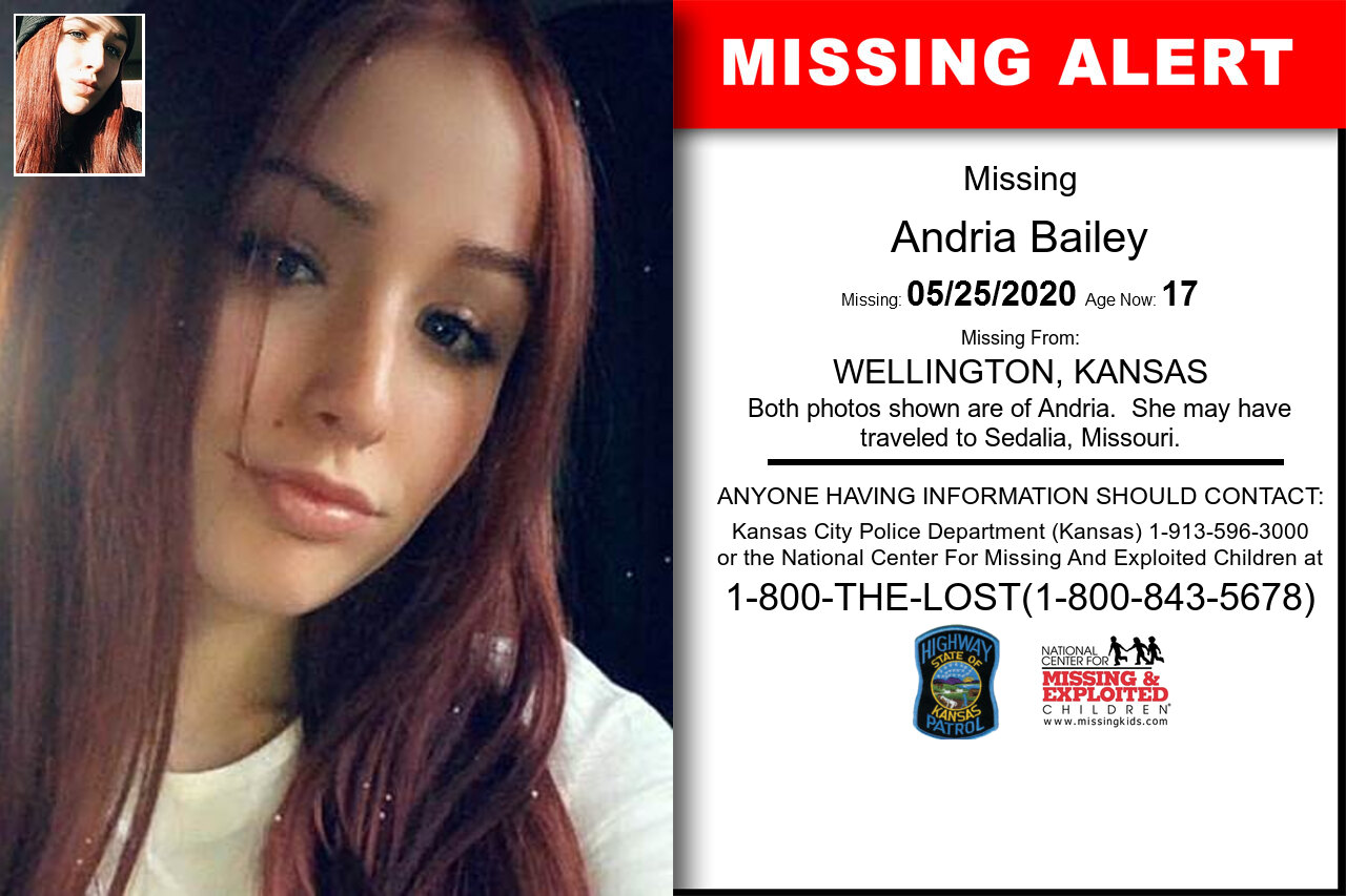 Andria_Bailey missing in Kansas