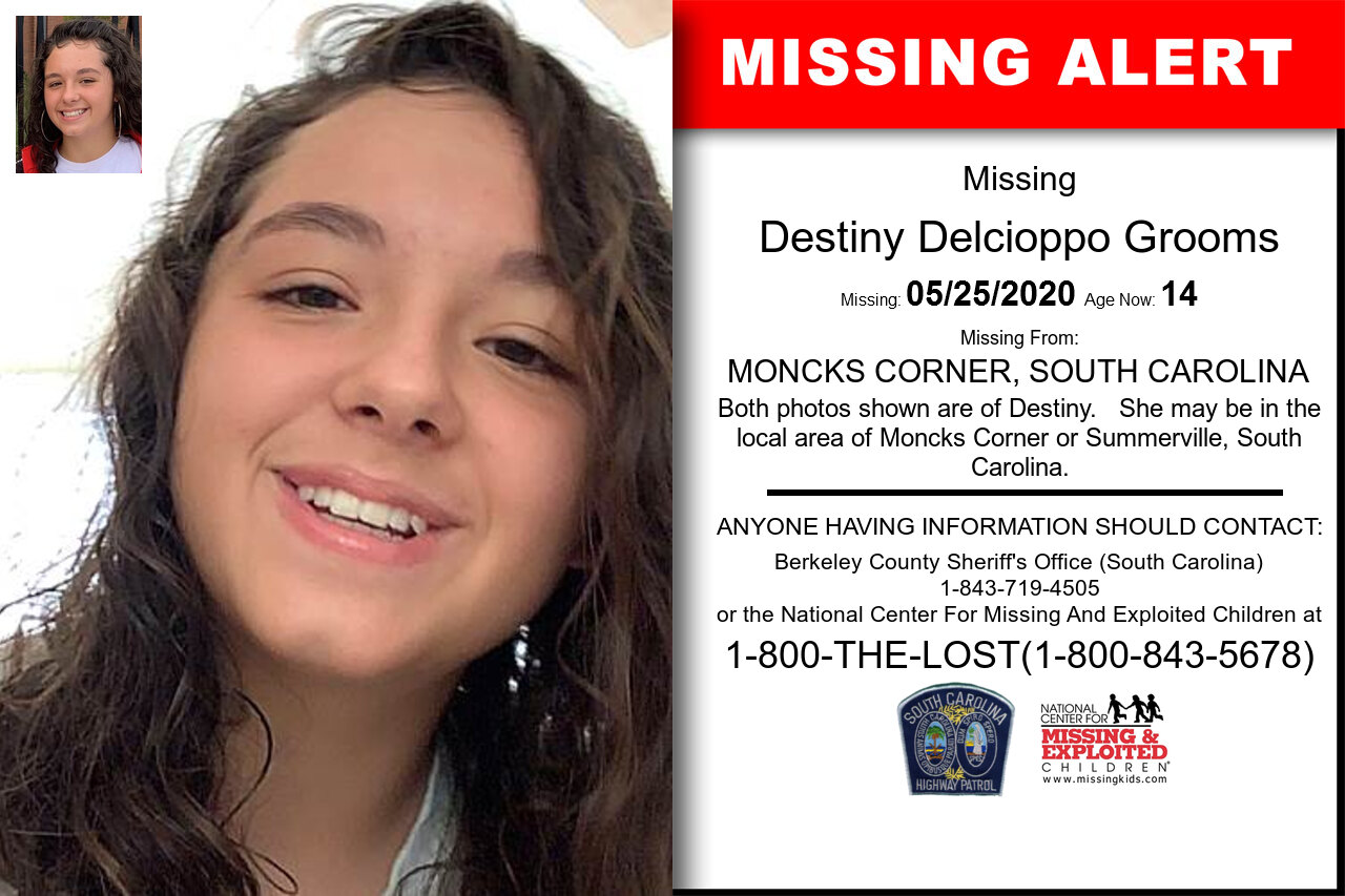 Destiny_Delcioppo_Grooms missing in South_Carolina