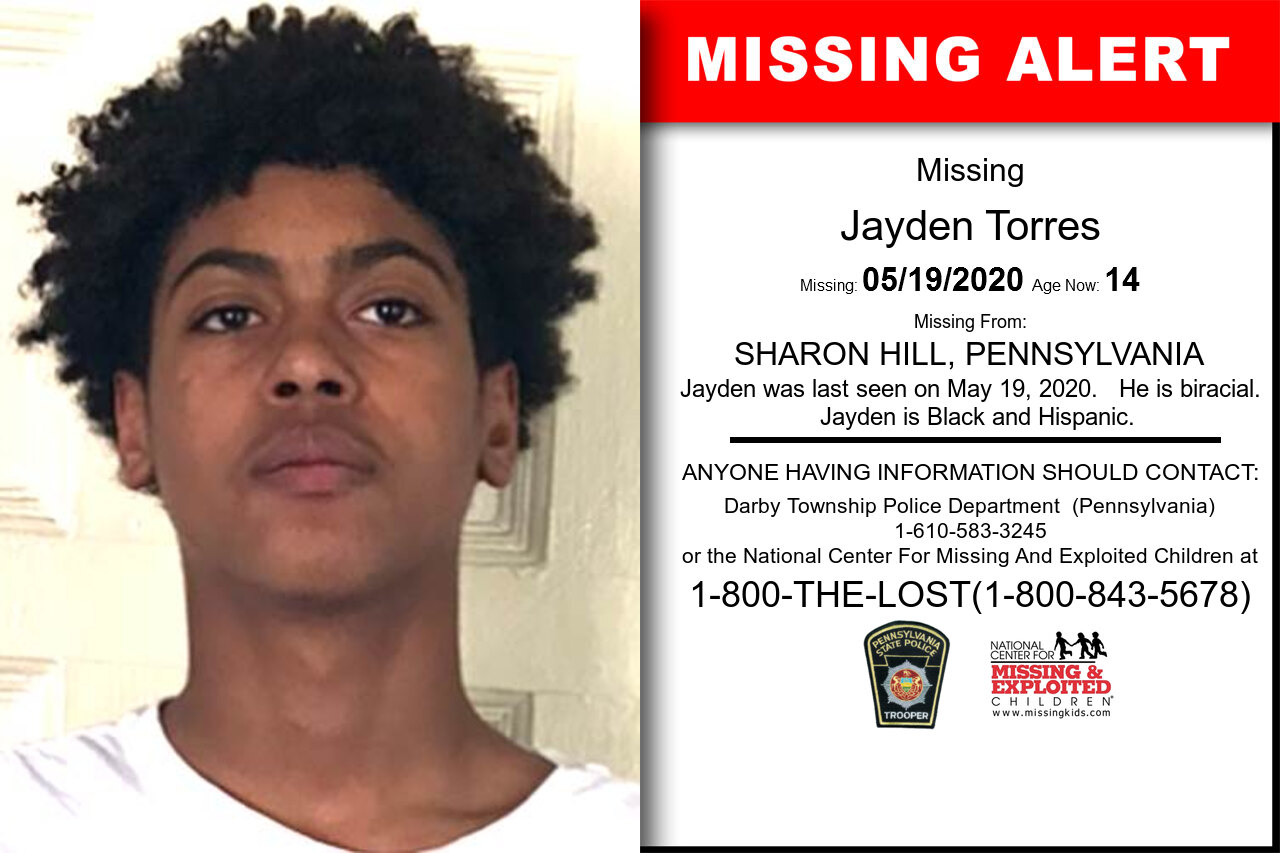 Jayden_Torres missing in Pennsylvania