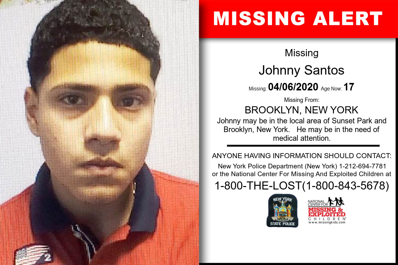 Johnny_Santos missing in New_York