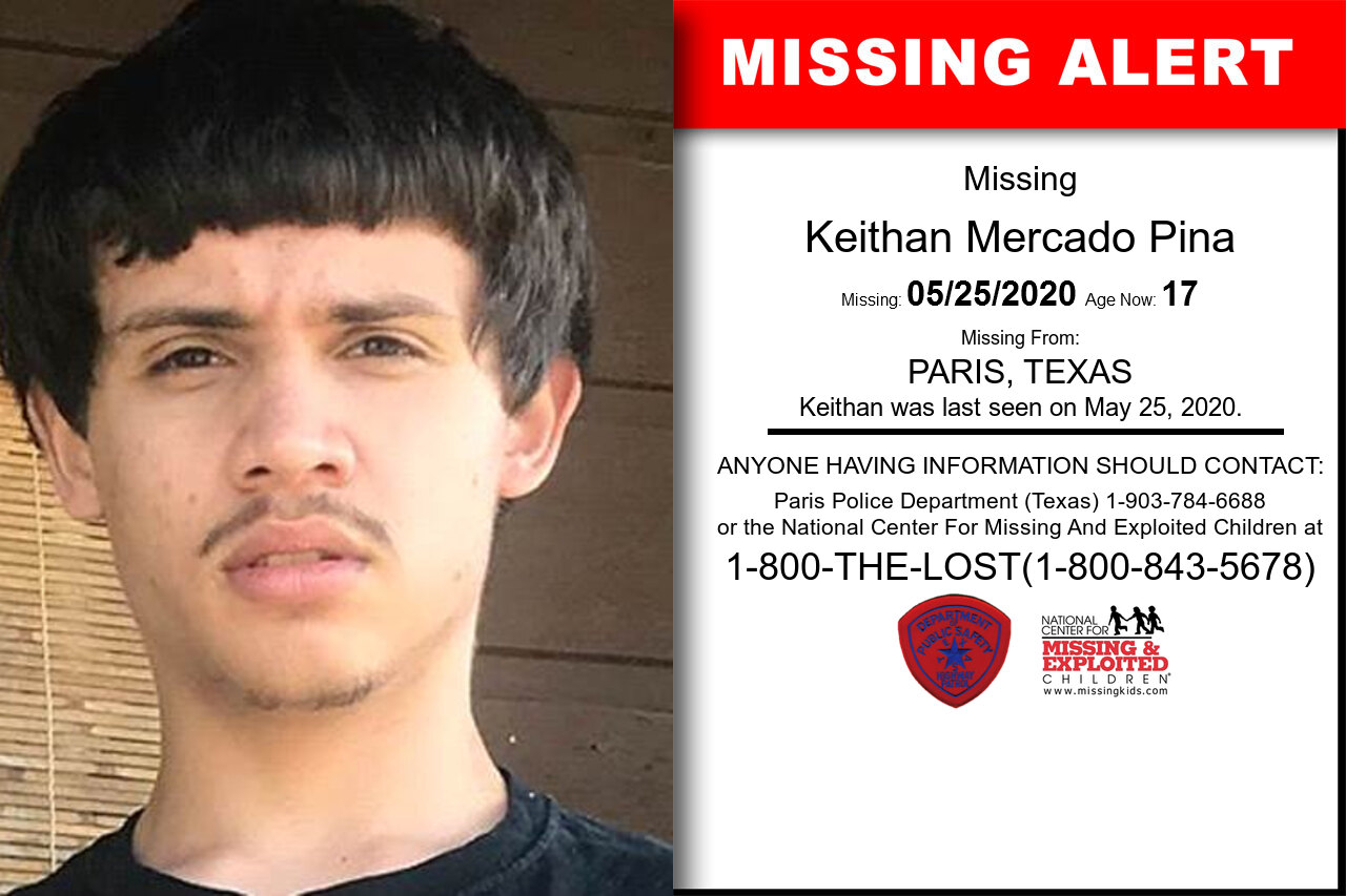 Keithan_Mercado_Pina missing in Texas