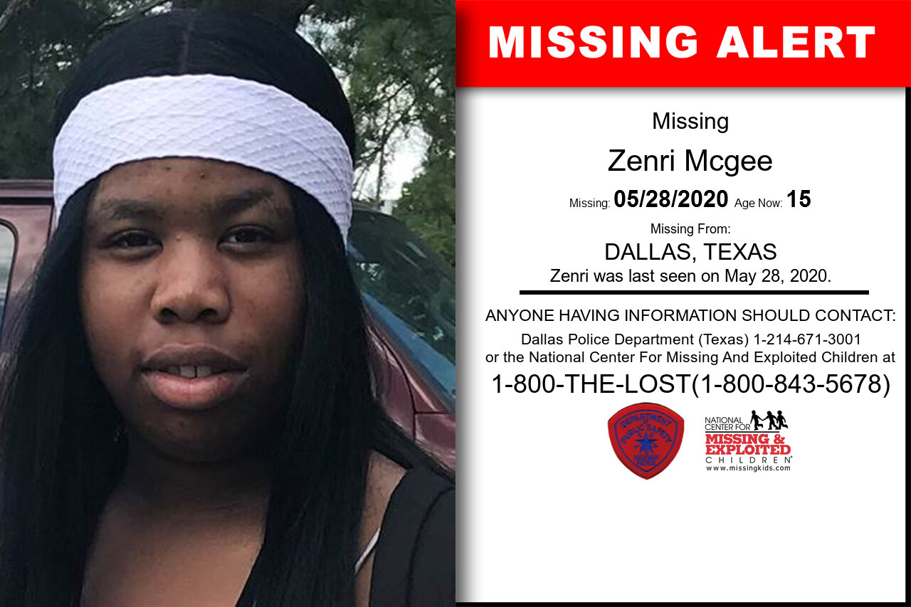Zenri_Mcgee missing in Texas