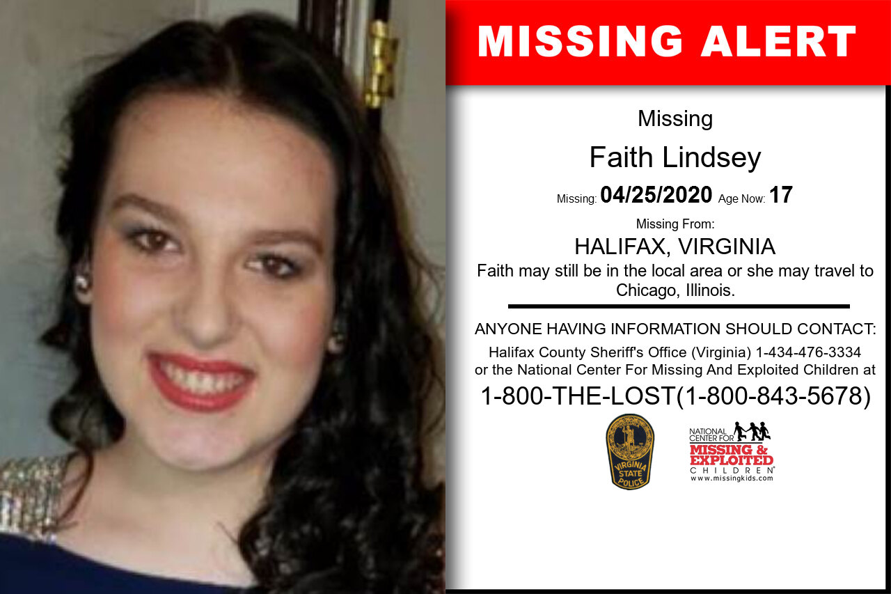 Faith_Lindsey missing in Virginia