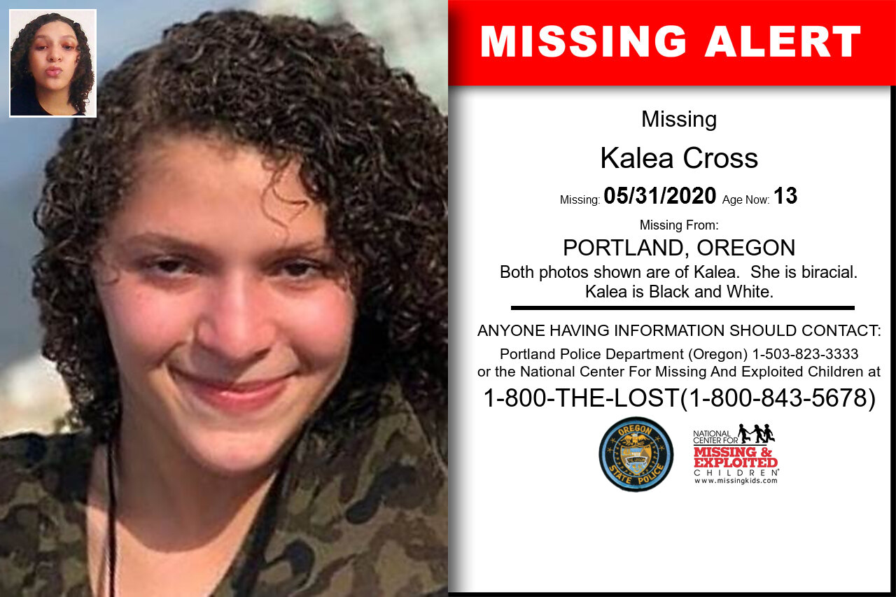 Kalea_Cross missing in Oregon