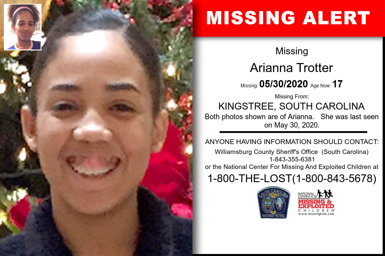 Arianna_Trotter missing in South_Carolina