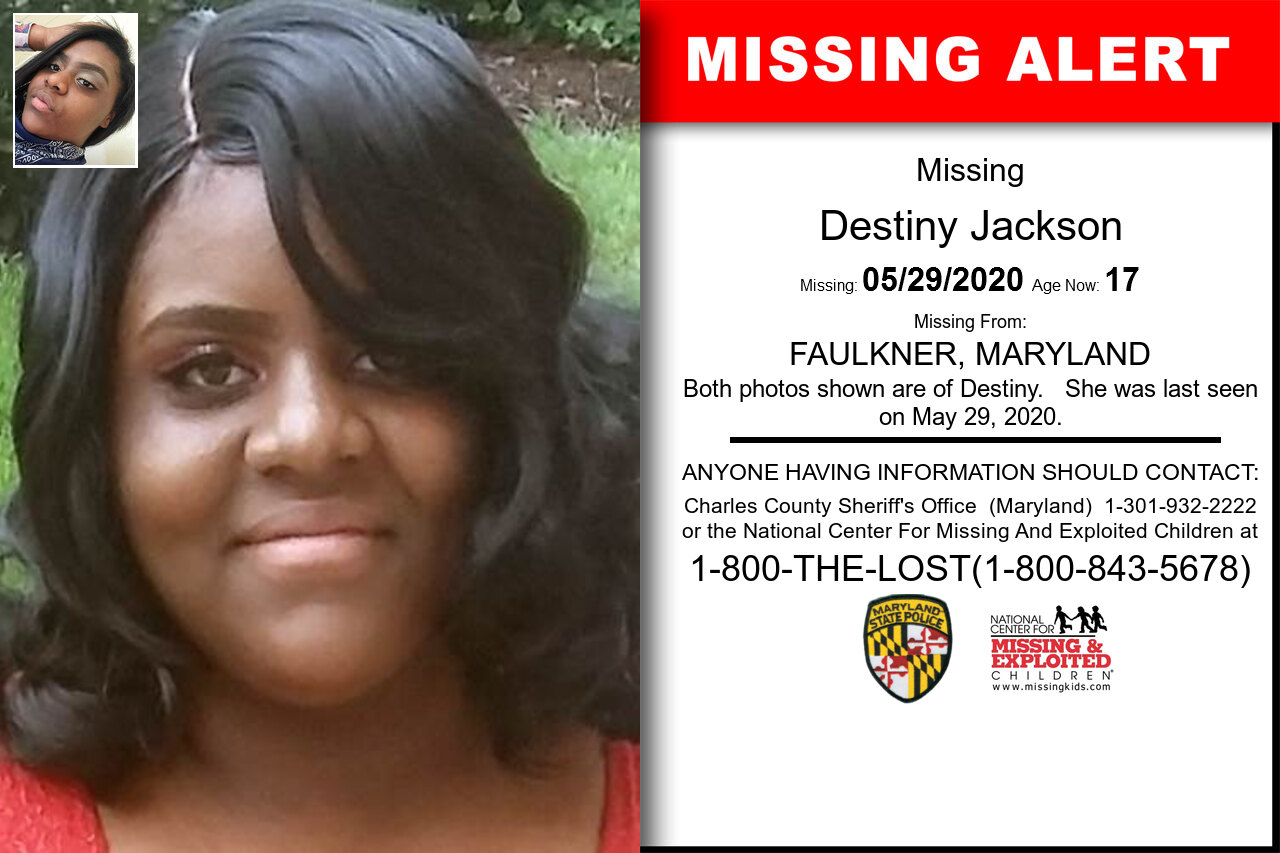 Destiny_Jackson missing in Maryland