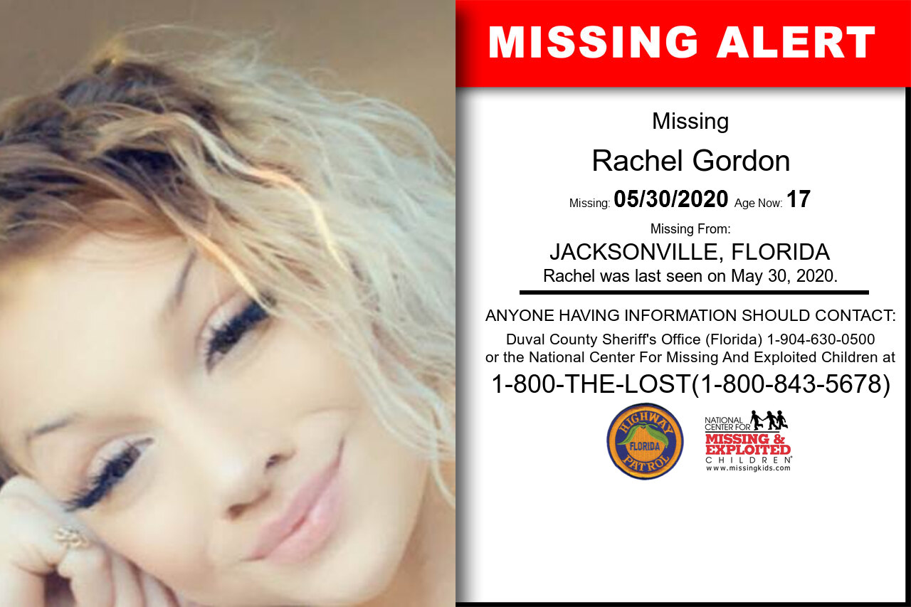 Rachel_Gordon missing in Florida