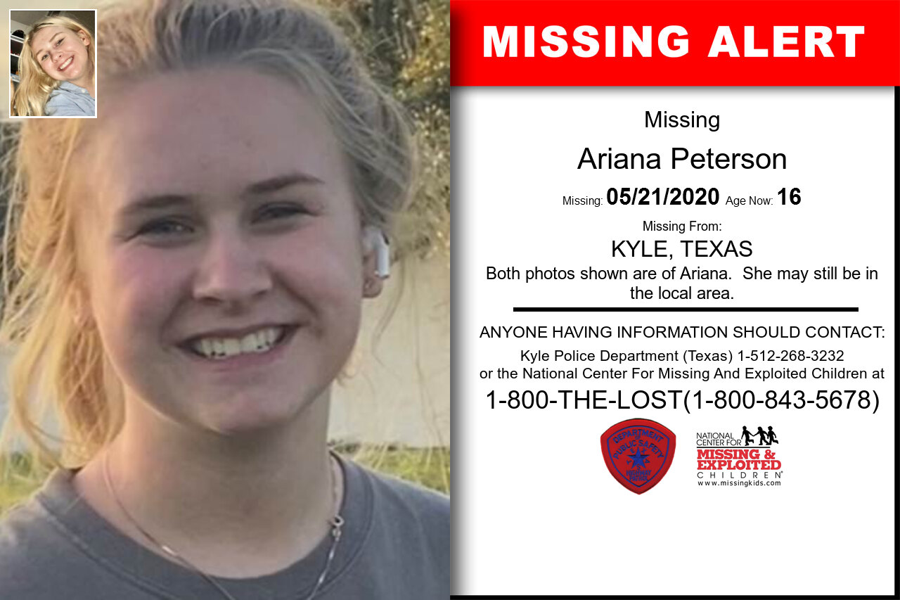 Ariana_Peterson missing in Texas