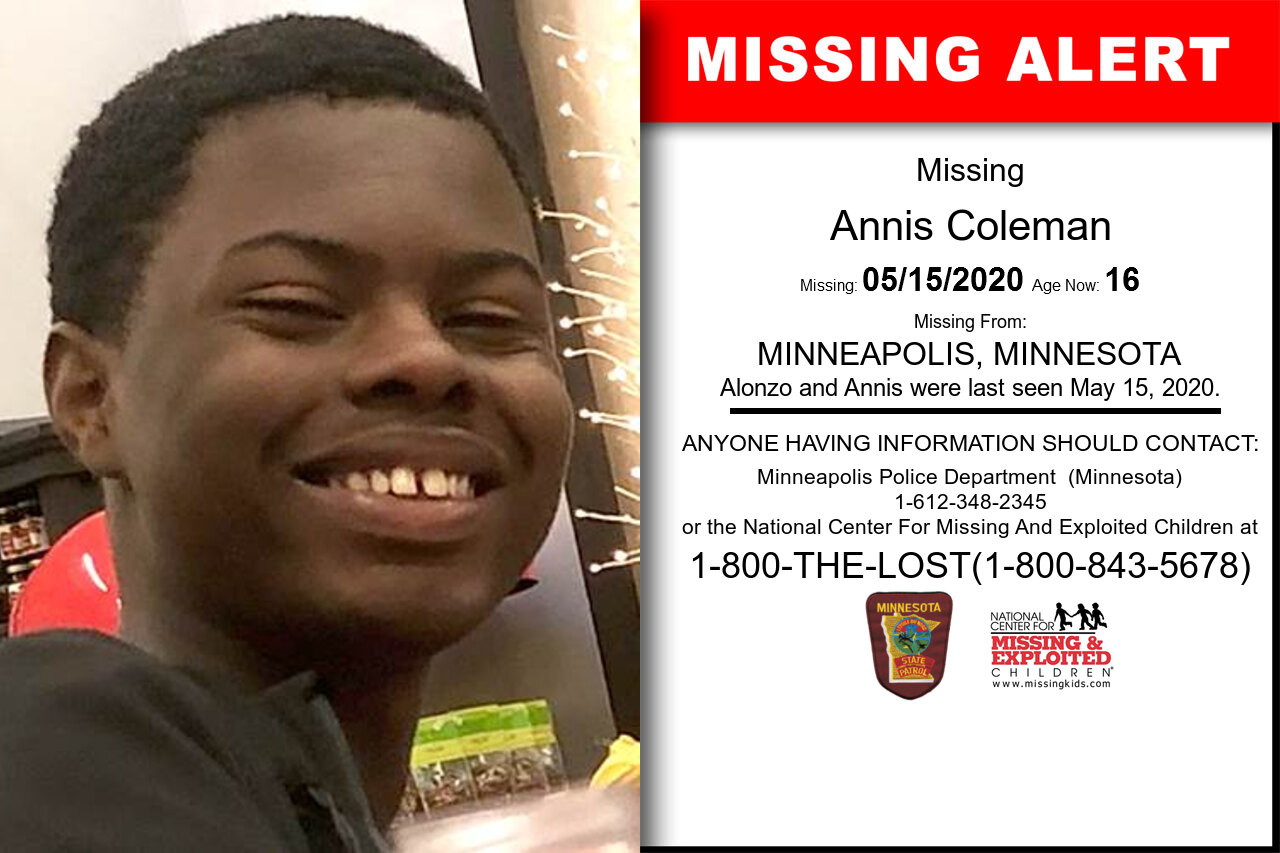 Annis_Coleman missing in Minnesota