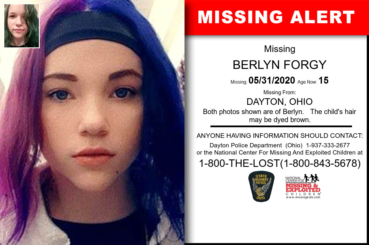 BERLYN_FORGY missing in Ohio