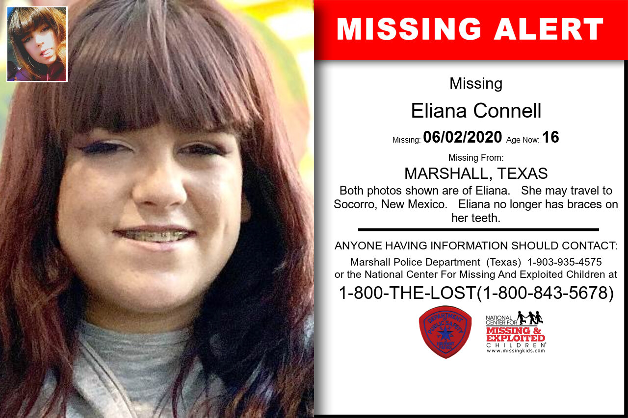Eliana_Connell missing in Texas