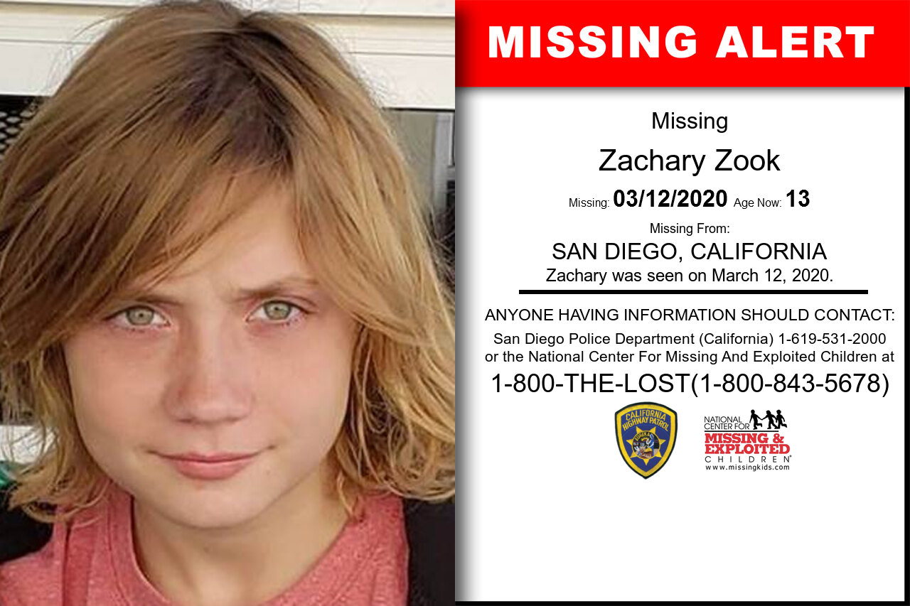 Zachary_Zook missing in California