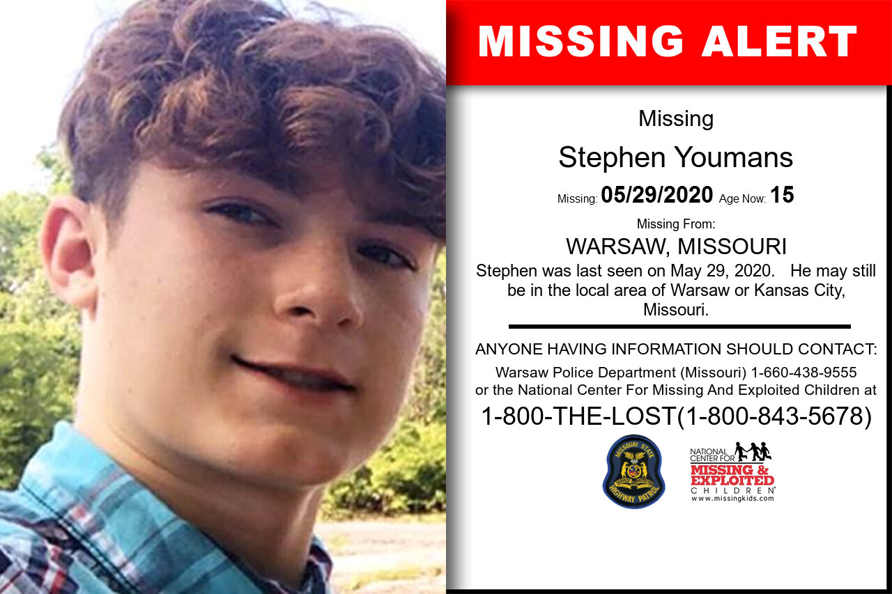 Stephen_Youmans missing in Missouri