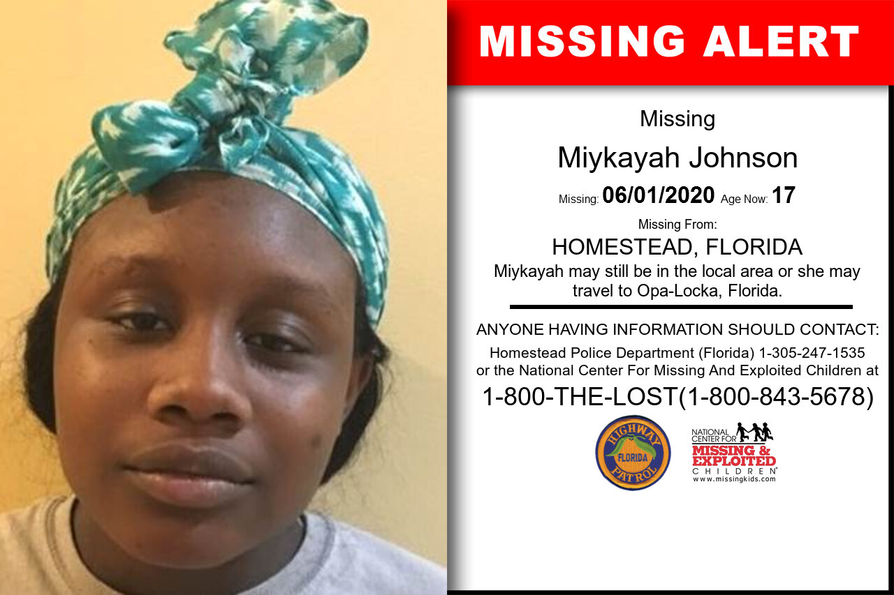 Miykayah_Johnson missing in Florida