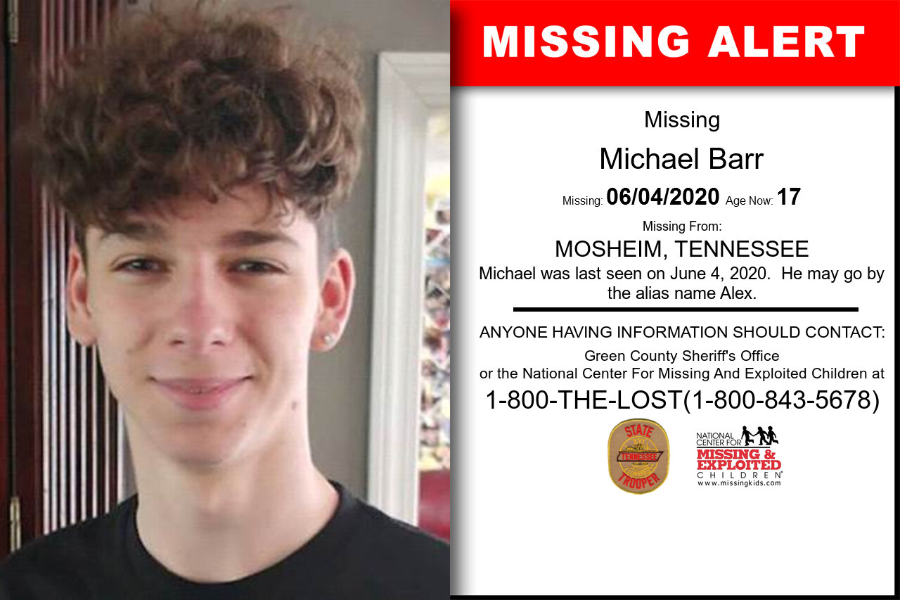 Michael_Barr missing in Tennessee