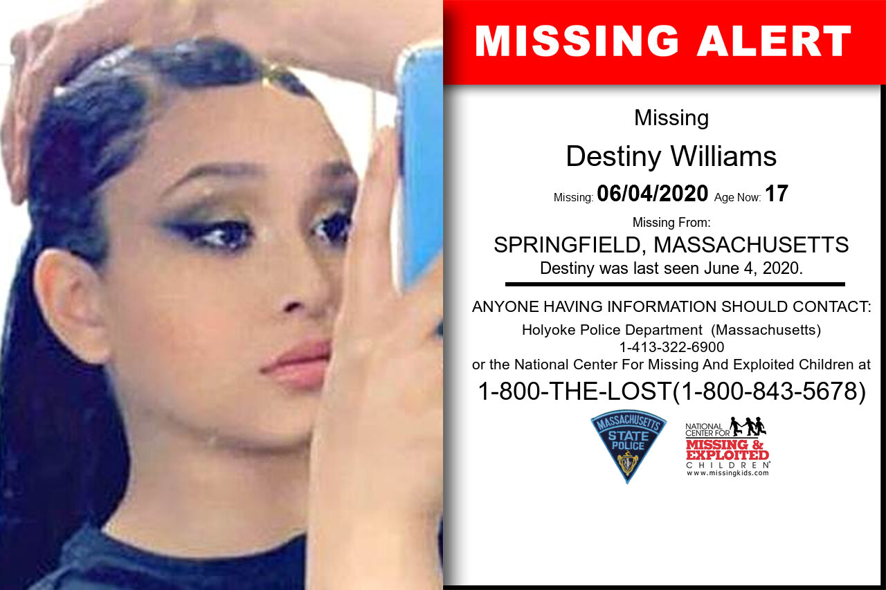 Destiny_Williams missing in Massachusetts