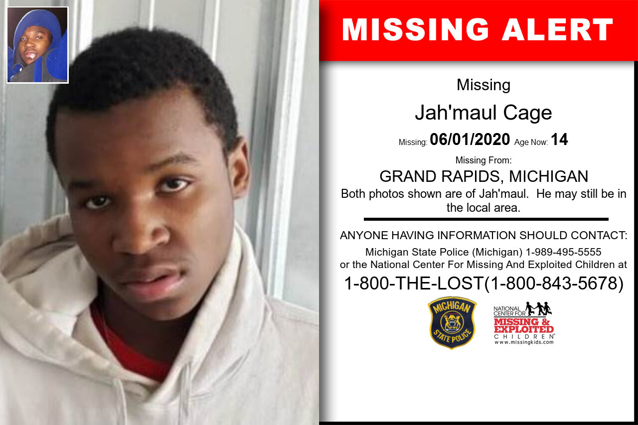 Jah'maul_Cage missing in Michigan