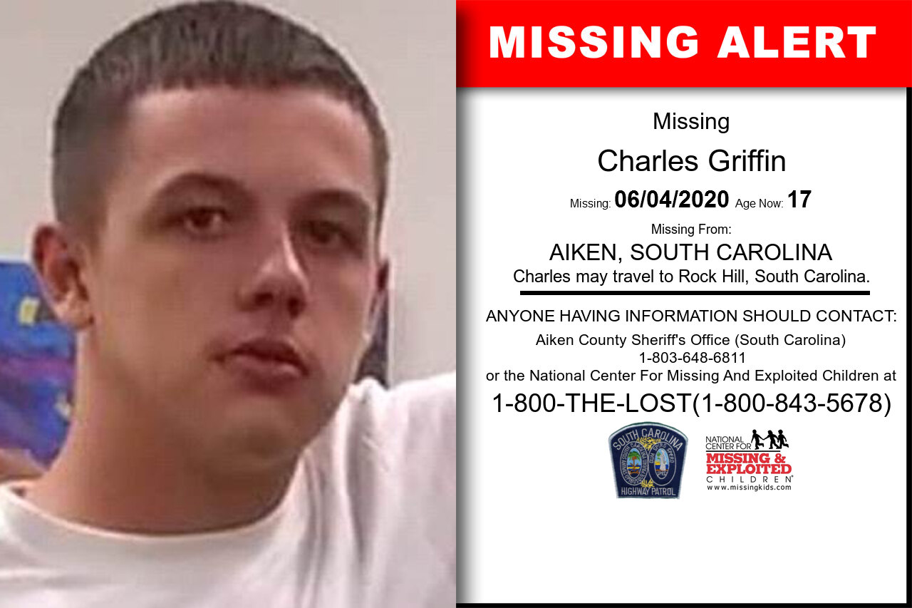 Charles_Griffin missing in South_Carolina