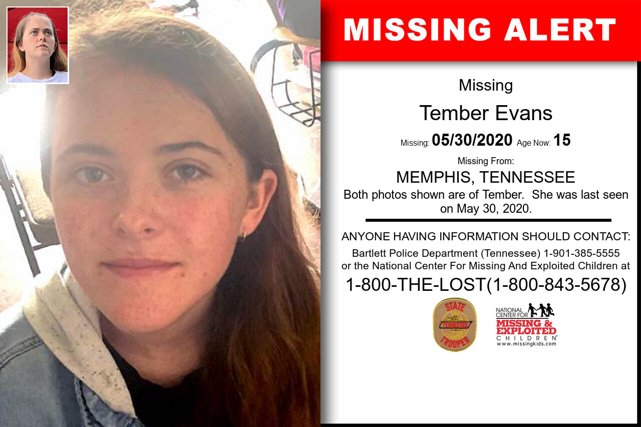 Tember_Evans missing in Tennessee