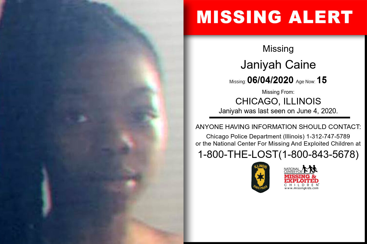Janiyah_Caine missing in Illinois