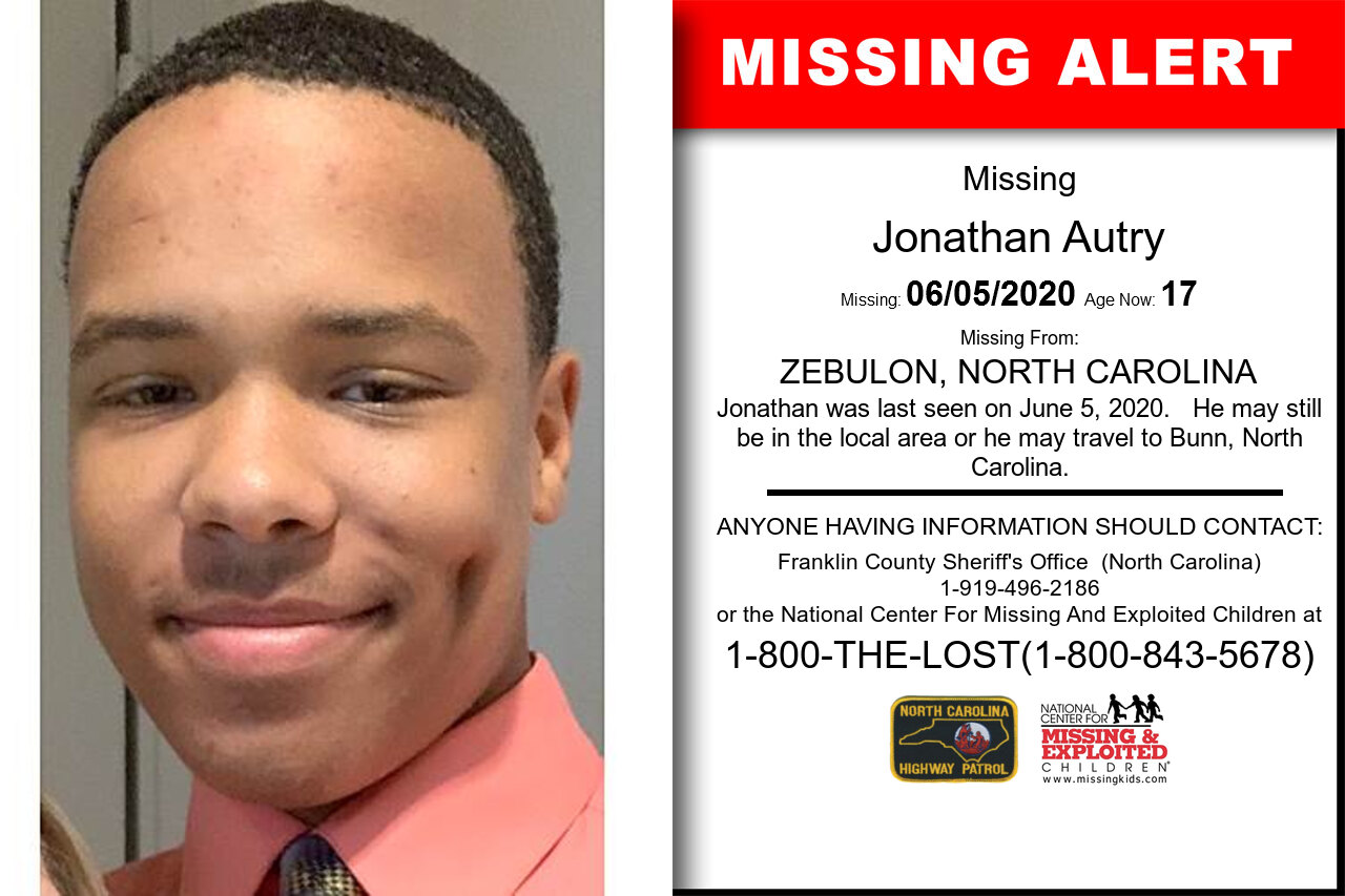 Jonathan_Autry missing in North_Carolina