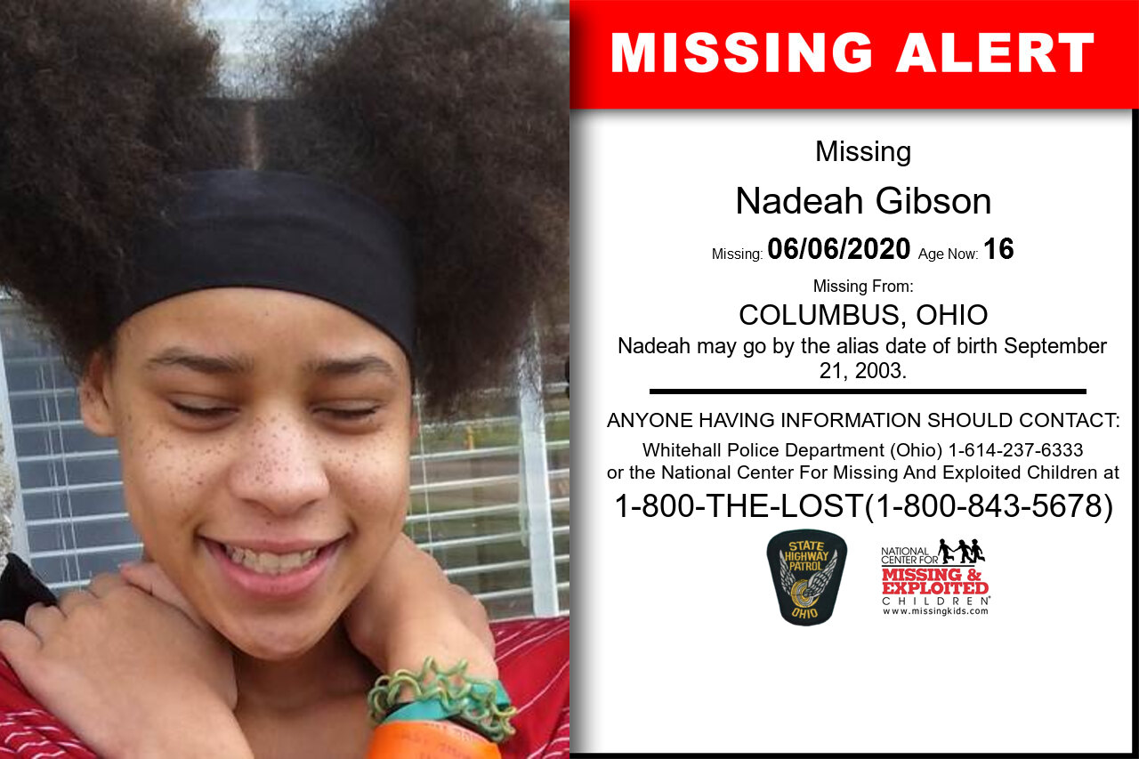 Nadeah_Gibson missing in Ohio