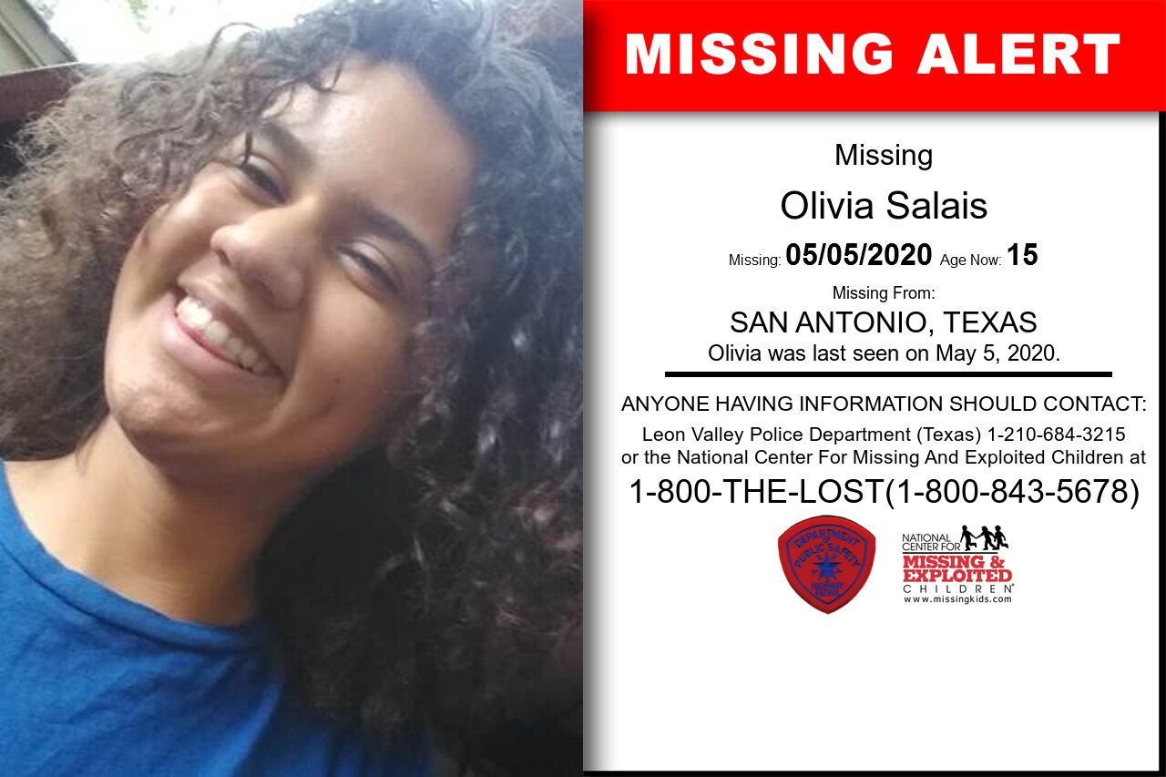 Olivia_Salais missing in Texas