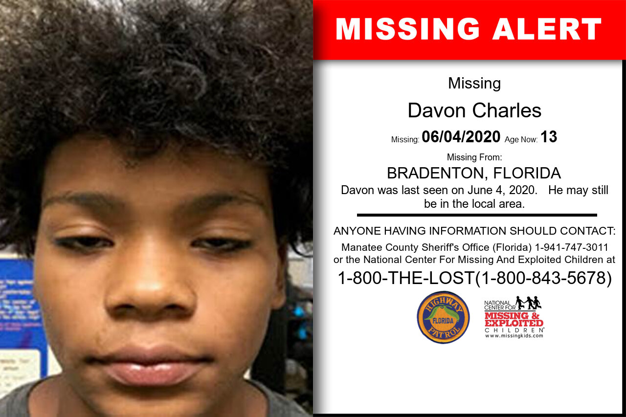 Davon_Charles missing in Florida
